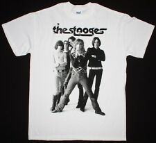 THE STOOGES IGGY POP PROTO PUNK ROCK BAND TOM PETTY MINUTEMAN NEW WHITE T-SHIRT