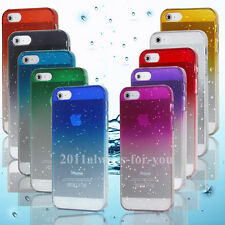 3D Raindrop Waterdrop Clear Ultra Thin Hard Back Case Cover Skin for iPhone 5 5G