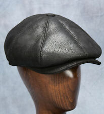NEW Newsboy Cap (Black) - 100% Sheepskin by Northern Hats (SKU: 08K-BLK-AS)