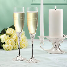 Lenox Opal Innocence Wedding Champagne Toasting Flutes + Option to Personalize