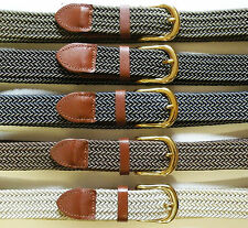 Woven Stretch Belt Mens 5 Colors Size S thru 3XL