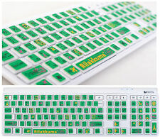 Lovely Rilakkuma Green Keyboard Mouse Sticker Key skin Cover Skin Korean/English