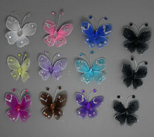 50pc Nylon Stocking Butterfly Wedding Decoration 3.5cm Free Shipping