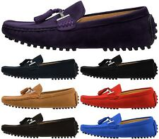 MEN'S FAUX SUEDE TASSEL CASUAL SLIP ON LOAFERS DRIVING SHOES size 6 7 8 9 10 11
