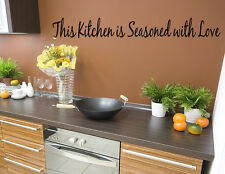 Season This Kitchen Love Vinyl Wall quote Decal home Decor Wall Sticker