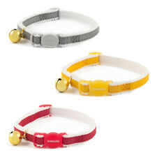 Ancol Elasticated Reflective Safety Kitten Cat Collar  Bell red silver yellow