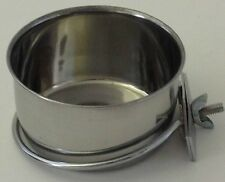 Petcetera Stainless Steel 10 oz. Coop Cup / Feeding Bowl w/ Bolt on Bracket