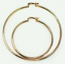 XL 8.5 or 5.5 inch hoop circumference  14k gold filled 2mm thick loop earrings