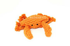 TOUGH SAFE HANDMADE KNIT ROPE CHEW ANIMAL TOYS FOR DOGS - CRAB!
