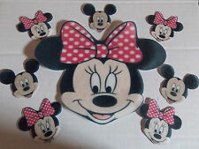 Extra Large Edible precut Minnie Mouse cake and cupcake toppers