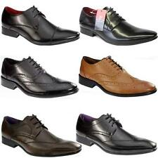 NEW MENS PIERRE CARDIN LEATHER DESIGNER OFFICE BROGUE WEDDING FORMAL SMART SHOES