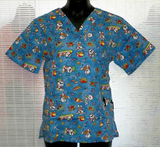Trend NWT Printed Medical Scrub top (4700) Summer Cats