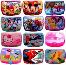 KIDS CHARACTER SANDWICH LUNCH BOX FOOD FRUIT CONTAINER CHILDRENS SCHOOL PICNIC
