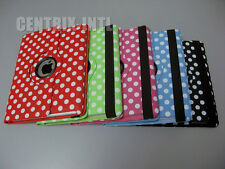 Polka Dot Rotating PU Leather Case Smart Cover Stand for iPad 2 3 4... 5 Colors!