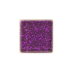 1/2 LB PURPLE  GLITTER CRYSTAL TILES