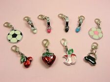 FOOTBALL/ STRAWBERRY/SANDAL w/ Lobster CLIP ON CHARM fits Link Chain Bracelet