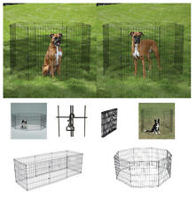 """xLarge AFFORDABLE Exercise Pens for Dogs & Pets - 48"""" Black Wire Ex Pen Yard NWT"""
