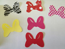 Minnie Mouse Birthday Party decoration Bows Zebra, Pink, Red, Polka dot (Cricut)