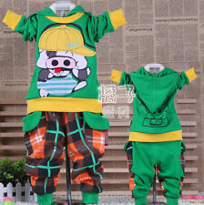 Boys Cartoon Outfit Suit Tracksuit Sports Party Novelty Hoodie Pig Top Jumper UK