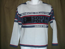 Southpole Authentic Collection Pullover Sweater Lt Grey/Blue NEW w/Tags