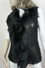 NEW 100% GENUINE SHEARLING SHEEPSKIN LEATHER LONG HAIRED TOSCANA VEST JACKE S-XL