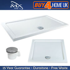 MX Durastone Resin Shower Trays 45mm Square+Rectangle Low Profile Hi-Flow Waste