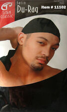 Titan Classic Satin Du-Rag. Ultra stretchable.Fits all sizes.Extra long tail.