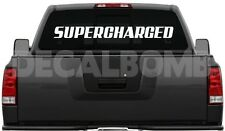 "SUPERCHARGED windshield decal / sticker "" choose color & size "" blower race"