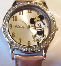 Disney for Avon Sparkling Minnie Mouse Watch Pink Pearl Strap New