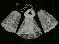 Lace Cravat + Cuffs Jabott Neck Frill - Victorian Edwardian Fancy Dress 2 Colour