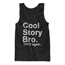 Cool Story Bro, tell it again Jersey Shore funny NJ Guido Guidette Tank Top NEW