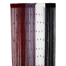 Top Beads Door Curtain Window Panel Room String Curtains Strip Tassel 4 Colors