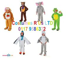 MULTI CHOICE PLUSH ANIMALS WITH HEADS CHILD FANCY DRESS COSTUMES COMPLETE OUTFIT