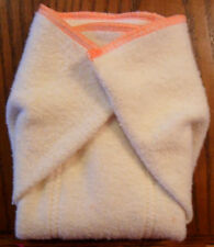 New Hemp Organic Cotton Fleece Prefold (11 x 14) cloth diapers Orange Trim