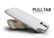 White Pull Tab PU Leather Case Cover Pouch Slide In Sleeve