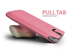 PINK PREMIUM LEATHER PULL TAB CASE COVER POUCH FOR VARIOUS HANDSETS