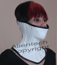 Buckle Leather Over Mouth Neck Corset Collar White  S-XL