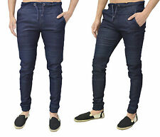 MENS DESIGNER SLIM CUFFED CHINOS JOGGERS JEANS TWISTED TAPERED FIT BOW LEG CARGO