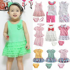 "NWT Vaenait Baby Infant Girl Clothes Dress Outfits Outwear Headband Set ""Pinky"""