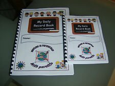 My Daily Record Book - parent to childminder daily contact book childminding NEW