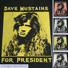 Dave Mustaine For President SWEATSHIRT Megadeth fan Humor Custom your size color