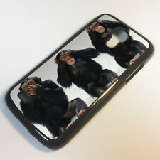 Cover for Samsung Galaxy S4 Mini  Monkey Funny Cute Evil Quirky Case &2128