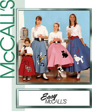 """McCall's 7253 """"AT THE HOP"""" SKIRT PATTERN Sz Girl 3/4-5/6, 7-14 or Miss 4-18"""