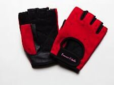 Women's RED Femme Fitale Fingerless Gloves Weigh Lifting, Fitness, Gym, Workout