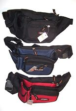 Sport Fanny Pack / Waist Bag with Cell Phone Pouch -  Black, Blue or Red