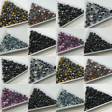 1440pcs HOTFIX 2-5mm Clear AB / Colors Glass Crystal Flatback Rhinestone Iron On