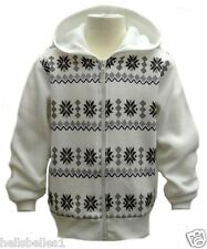 BOY'S PATTERNED FLEECE LINED HOODED/HOODY ZIPPER TOP 3 4 5 6 7 8 9 10 11 12 YRS