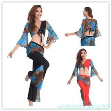 High Quality Belly Dance Costume 2 Set Of Upper Garment & Pants Stretch Cotton