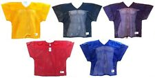 Football Practice Jersey Cropped Over Pads V Neck Mesh Mens Russell Athletic