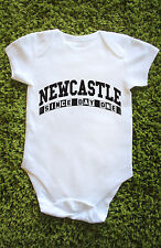 Newcastle since day one Baby Grow Vest united geordie toon gift cute Babies L456